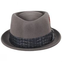 Stout Gray Wool Felt Diamond Crown Fedora Hat alternate view 2