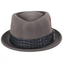 Stout Gray Wool Felt Diamond Crown Fedora Hat alternate view 6