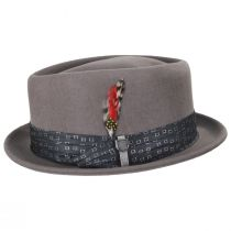 Stout Gray Wool Felt Diamond Crown Fedora Hat alternate view 7