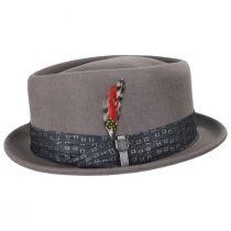 Stout Gray Wool Felt Diamond Crown Fedora Hat alternate view 11