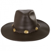Dude Braid Conch Leather Outback Hat alternate view 14