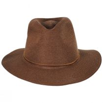 Wesley Braided Toyo Straw Fedora Hat alternate view 2