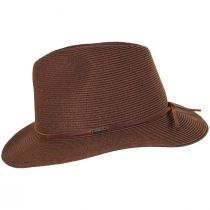 Wesley Braided Toyo Straw Fedora Hat alternate view 3