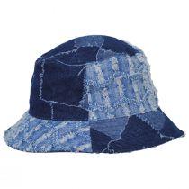 Patchwork Mashup Denim Cotton Bucket Hat alternate view 7