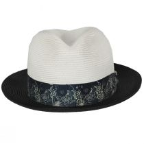 Haring Two-Tone Braided Trilby Fedora Hat alternate view 2
