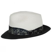 Haring Two-Tone Braided Trilby Fedora Hat alternate view 3