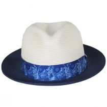 Haring Two-Tone Braided Trilby Fedora Hat alternate view 6