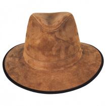 Chelan Suede Leather Safari Fedora Hat alternate view 2
