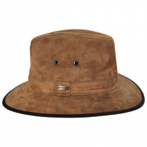 Chelan Suede Leather Safari Fedora Hat alternate view 3