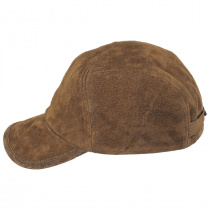 Cascade Suede Leather Fitted Baseball Cap alternate view 3