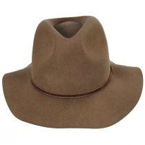 Wesley Tan Wool Felt Fedora Hat alternate view 10