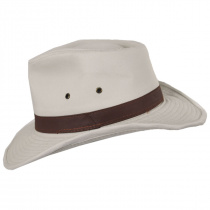 Cotton Twill Outback Fedora Hat alternate view 4