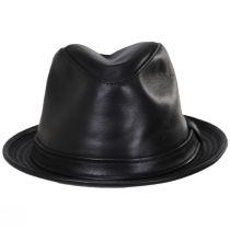 Lambskin Leather Fedora Hat alternate view 6
