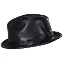 Lambskin Leather Fedora Hat alternate view 7