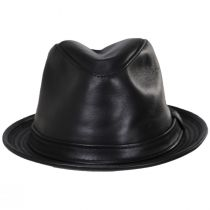 Lambskin Leather Fedora Hat alternate view 10