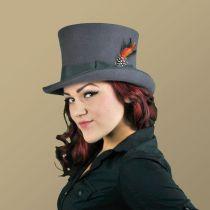Victorian Gray Wool Felt Top Hat alternate view 6