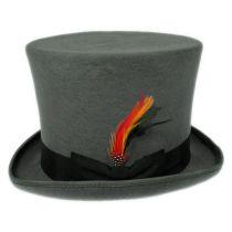 Victorian Gray Wool Felt Top Hat alternate view 8