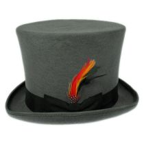 Victorian Gray Wool Felt Top Hat alternate view 20