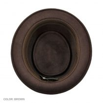 Crushable Brown Wool Felt Pork Pie Hat alternate view 4