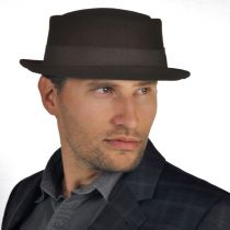 Crushable Brown Wool Felt Pork Pie Hat alternate view 10