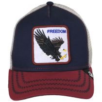 Freedom Mesh Trucker Snapback Baseball Cap alternate view 6