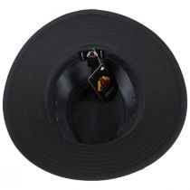 Black Cotton Safari Fedora Hat alternate view 4