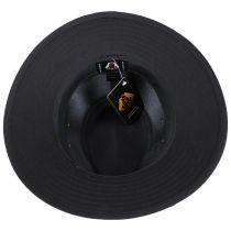 Black Cotton Safari Fedora Hat alternate view 8