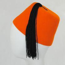 Orange Wool Fez with Black Tassel alternate view 3