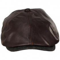 Leather Suede Newsboy Cap alternate view 2