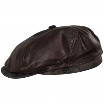 Leather Suede Newsboy Cap alternate view 3