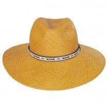 Southwest Panama Straw Wide Brim Fedora Hat alternate view 2
