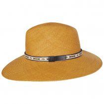 Southwest Panama Straw Wide Brim Fedora Hat alternate view 15