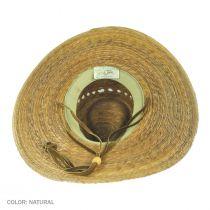 Gardener Lattice Palm Straw Wide Brim Hat alternate view 12