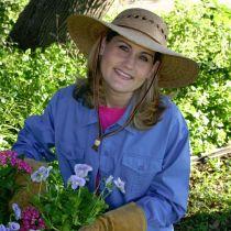 Gardener Lattice Palm Straw Wide Brim Hat alternate view 13
