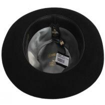 Alessandria Shaved Black Fur Felt Fedora Hat alternate view 4