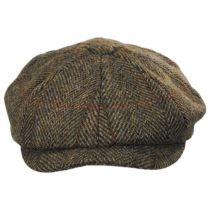 Carloway Harris Tweed Wool Overcheck Herringbone Newsboy Cap alternate view 2