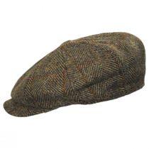 Carloway Harris Tweed Wool Overcheck Herringbone Newsboy Cap alternate view 3