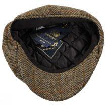Carloway Harris Tweed Wool Overcheck Herringbone Newsboy Cap alternate view 4