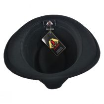 Detroit Wool Felt Trilby Fedora Hat - Black alternate view 24