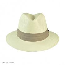 Toyo Straw Safari Fedora Hat - Khaki Band alternate view 26