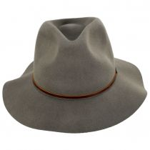 Wesley Khaki Packable Wool Felt Fedora Hat alternate view 2
