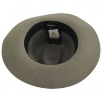 Wesley Khaki Packable Wool Felt Fedora Hat alternate view 16