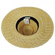 Joanna Polka Dot Wheat Straw Fedora Hat alternate view 4