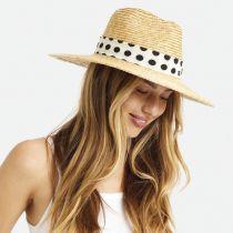 Joanna Polka Dot Wheat Straw Fedora Hat alternate view 5