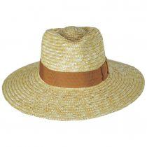 Joanna Natural/Taupe Wheat Straw Fedora Hat alternate view 2
