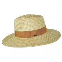 Joanna Natural/Taupe Wheat Straw Fedora Hat alternate view 3