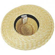 Joanna Natural/Taupe Wheat Straw Fedora Hat alternate view 4
