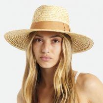 Joanna Natural/Taupe Wheat Straw Fedora Hat alternate view 6