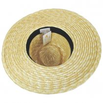 Joanna Natural/Taupe Wheat Straw Fedora Hat alternate view 10