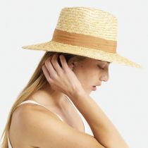Joanna Natural/Taupe Wheat Straw Fedora Hat alternate view 11